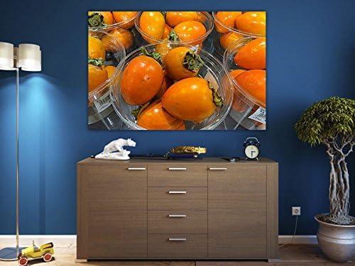 Kaki de fruta comida Cocina cosecha vitaminas Lienzo Póster Impresión de dz0665, 80x60: Amazon.es: Hogar
