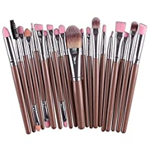 Makeup Brushes Set, Molie 20pcs Professional Cosmetic Bleding Brushes Powder Foundation Face&Eye Makeup Brushes Tools