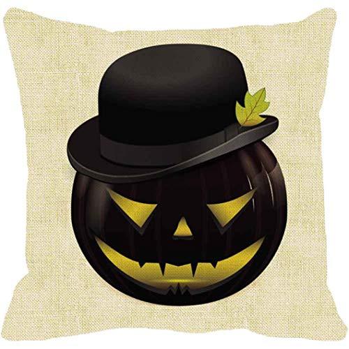 YOcheerful Halloween Pumpkin Pillow Cover Sofa Bed Decor Cusion Cover (D,45cm45cm) -