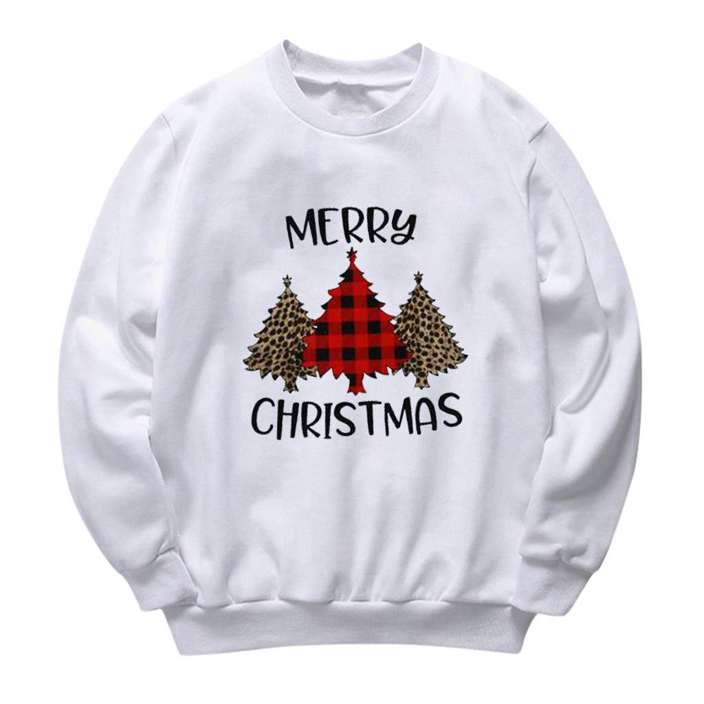 LATINDAY Plus Size Cute Christmas Printed T Shirt Women Long Sleeve Tops Blouse by LATINDAY ➜ Women's Clothing