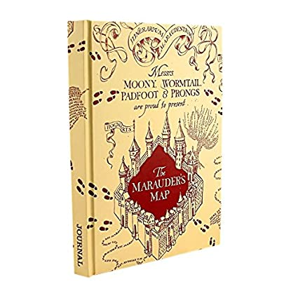 Silver Buffalo HP1050 Harry Potter Mischief Managed Marauders Map Hard Cover Journal, 6 x 8 inches