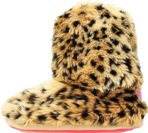 Blazin Roxx Kvinna Leopard Boot Tofflor, Fuskpäls Brun