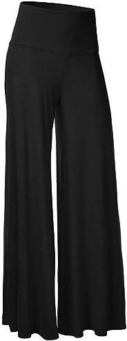 Womens Comfy High Waist Harem Pants Casual Dress Flowy Full Length Long Trousers