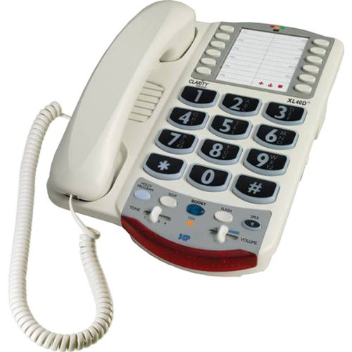 Clarity Genuine XL40D Amplified Corded Telephone - 50dB