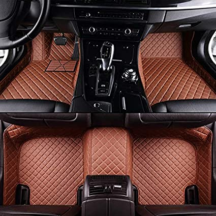 Unicozy Custom Car Floor Mat Front and Rear Liners All Weather for Hyundai Genesis Coupe 2010-2016 Black