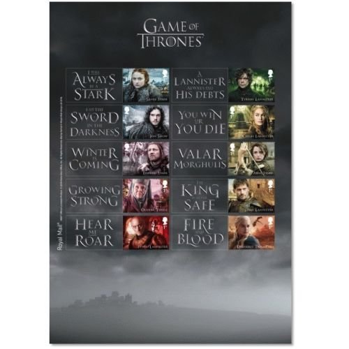 Game of Thrones Stamp Sheet Collectible Postage Stamps