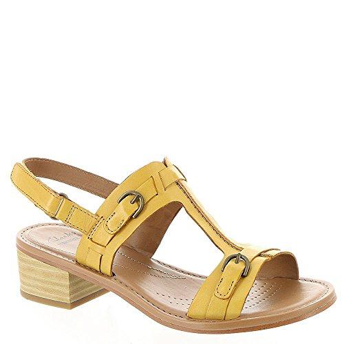 Clarks Reida Madalyn vestido de la sandalia Yellow Leather