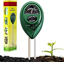 Suplong Soil PH Testing Kit 3 in 1 Plant Soil Tester Kit With PH, Light & Moisture acidity Tester,Great For Bonsai Tree,...