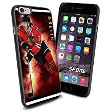 Chicago Blackhawks NHL, Duncan Keith WADE1302 Hockey iPhone 6 4.7 inch Case Protection Black Rubber Cover Protector