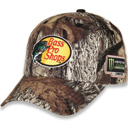 Checkered Flag Martin Truex Jr 2017 Monster Energy NASCAR Cup Series Champion True Timber Camo Hat With Adjustable Velcro Strap - Nascar Camouflage Hat
