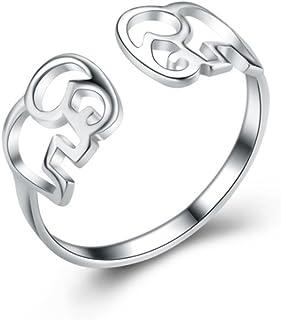 Wristchie Anello Regolabile da Donna in Argento Sterling 925 Motivo Gatto