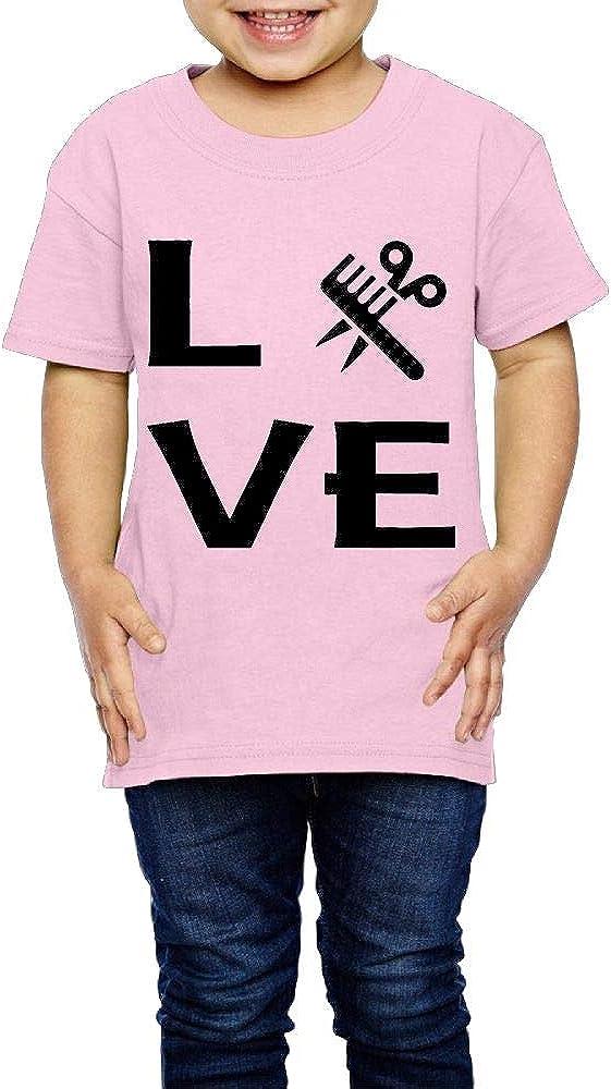 Hairstylist Love 2-6 Years Old Children Short Sleeve T Shirts