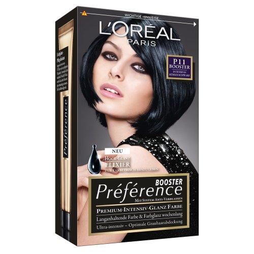 L'Oréal Paris Préférence Booster P11 Intensives kühles Schwarz, 3er Pack (3 x 1 Stück)