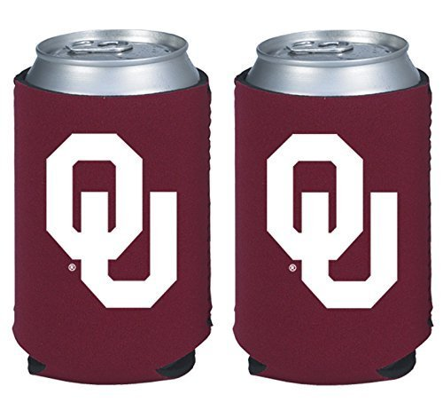 - NCAA College 2014 Team Logo Color Can Kaddy Holder Cooler 2-Pack (Oklahoma Sooners)