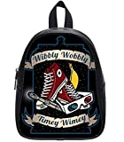 Wibbly Wobbly Timey Wimey Print High-Grade PU Leather School Backpack Bookbags Travel Backpack - Large