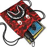 Men Women Shark Mouth Gym Drawstring Bag Waterproof