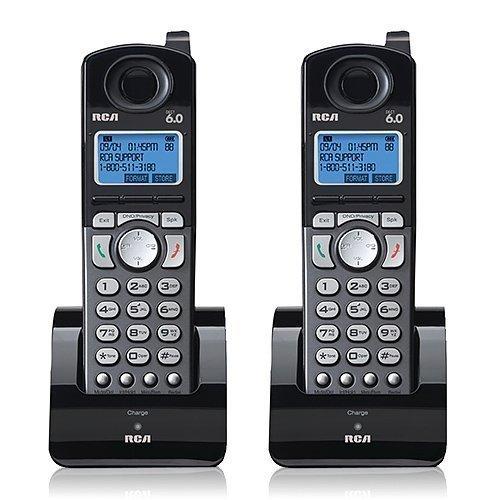 6.0 Expansion Handset Dect - RCA 25055RE1 Dect 6.0 Cordless Expansion Handset 2-Line Landline Telephone - 2 Pack