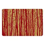 Cork Nature , 3mm, Set of 2 Korko 490401 Magic Forest Red Placemat