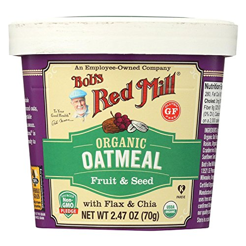 - BOB'S RED MILL, OATMEAL, OG2, CUP, FRT&SD, GF, Pack of 12, Size 2.47 OZ - No Artificial Ingredients Gluten Free 95%+ Organic