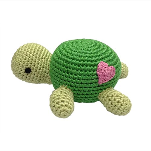 Knit Rattle (Cheengoo Organic Hand Crocheted Turtle Rattle)