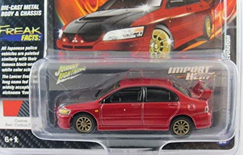 Johnny Lightning JLCP7248 Mitsubishi Lancer Evolution grün metallic 1:64 NEU!°