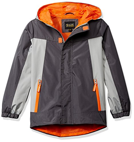 iXtreme Big Boys' Ripstop Active Jacket with Mesh Lining, Charcoal,