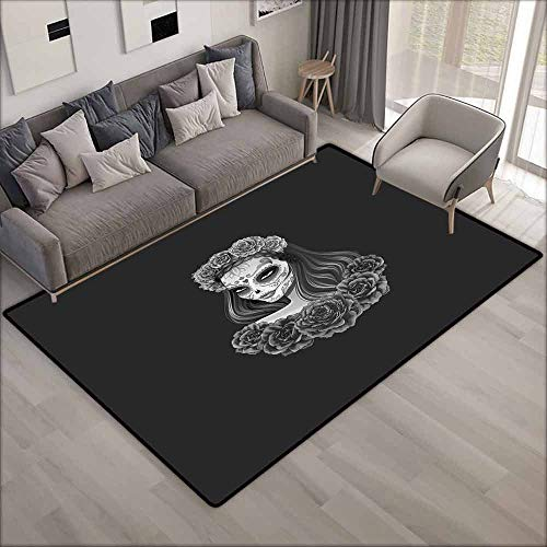 Pet Rug,Day of The Dead,Super Absorbs Mud,4'11