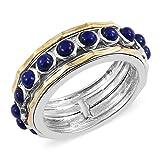 Round Lapis Lazuli Spinner Gift Ring Size 9