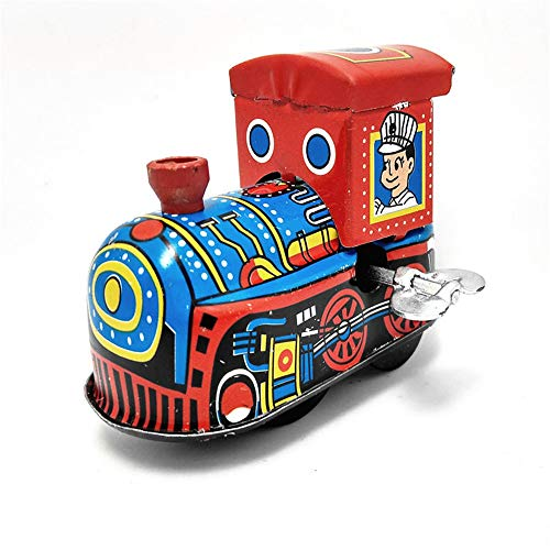 (Yinsen MS261 Fire Fighting Truck/Train Tin Toys with Driver Clockwork Wind Up Toy Collectible (Train))