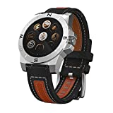 Gents Outdoors Sports Smart Watch with Pedometer Barometer Altimeter Thermometer Compass And Heart Rate Test etc. (Silver)