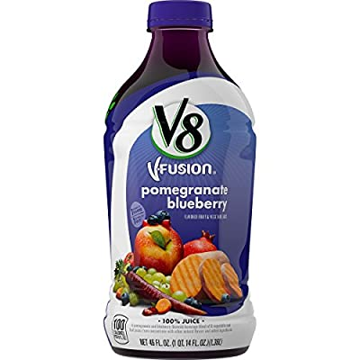 V8 V-Fusion 100 % Juice, Pomergranate Blueberry, 46 Ounce by V8 V-Fusion