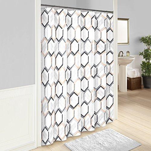 Vue Hexagonal Shower Curtain, 72x72