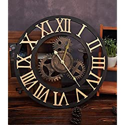ZHENAI Diameter 50cm Wall Clock Industrial Wind Gear Hanging Table Bar Cafe Family Living Room Personalized Suspension Holiday Gift Office (Color : 1#, Size : 50cm)