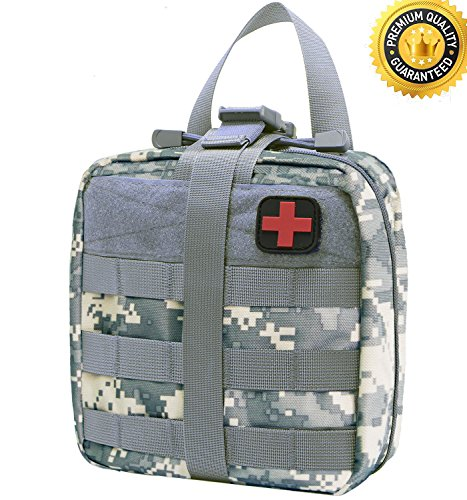 Carlebben Rip-away Emt Pouch Molle Pouch Ifak Pouch Medical First Aid Kit Utility Pouch 1000D Nylon (ACU)