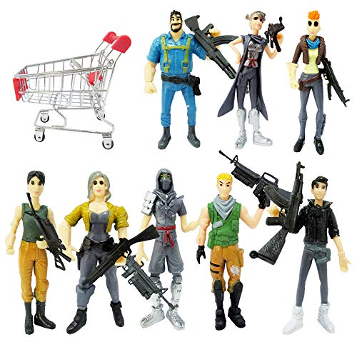 Ginkago Fort Game Action Figures Cartoon Toys Anime Collection Decoration Children Gift (9pc-fortnite)