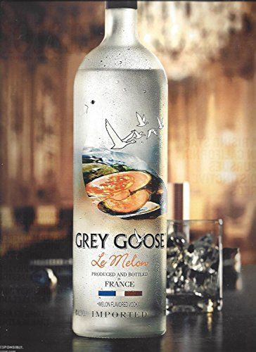 MAGAZINE ADVERTISEMENT For 2014 Grey Goose Le Melon Vodka Fly Beyond Beyond Vodka