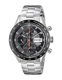 TAG Heuer Men's CV201AH.BA0725 Analog Display Automatic Self Wind Silver Watch
