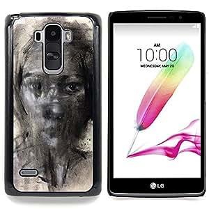 For LG G4 Stylus H631 MS631 H635 H540 H630D H542 , Pintura Lápiz Arte Mujer - Diseño Patrón Teléfono Caso Cubierta Case Bumper Duro Protección Case Cover Funda