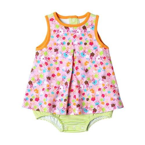 Zutano Print A-Line Jumper- Frisco Spray Pink, 6-12 months ()