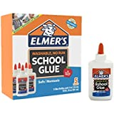 Elmer's Liquid School Glue, White, Washable, 4 Ounces - Great for Making Slime (5-Count)