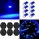 CCIYU Set of 6 Pcs) Speedometer Gauges Cluster Stepper Motor X27.168 w/8 T5 Blue Led Dash Bulbs
