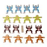 Datuun,Building Block Balance Wooden Monkey Game Educational Children Birthday Gift Toy