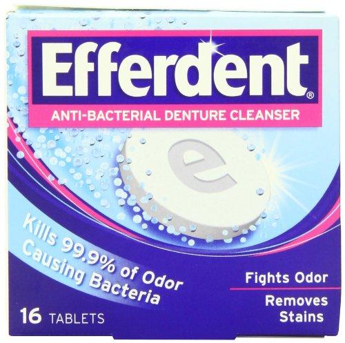 Efferdent Anti-Bacterial Denture Cleanser Tablets, 16 - Denture Efferdent Tablet