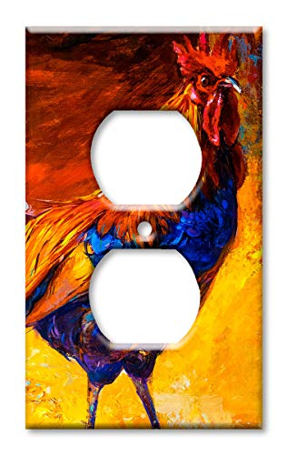 Art Plates OVER SIZED Outlet Cover/OVERSIZE Switch Plate - Rooster Painting
