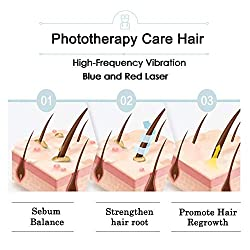 Phototherapy Hair Regrowth Brush, Scalp Massager Comb for Hair Growth, Anti Hair Loss Head Care Electric Massage Comb Brush with USB Rechargeable