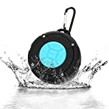 Shower Speaker, Tsumbay Bluetooth Portable Speaker IPX7 Waterproof Speaker with Suction Cup, Buit-in Mic, Hands-Free Speakerphone Mini Wireless Outdoor Speaker -Blue
