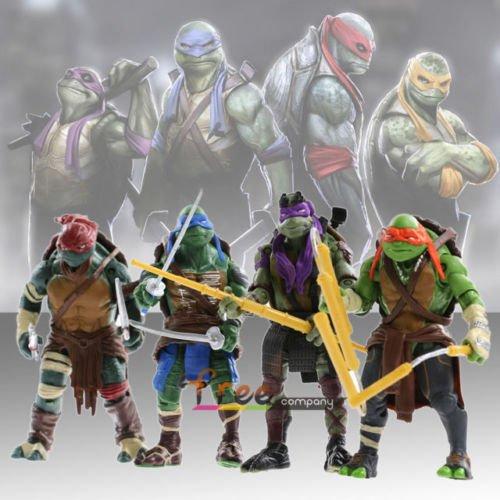 """2015 New Teenage Mutant Ninja Turtles Movie 5"""" Action Figure TMNT 4pcs/Lot Toys"""