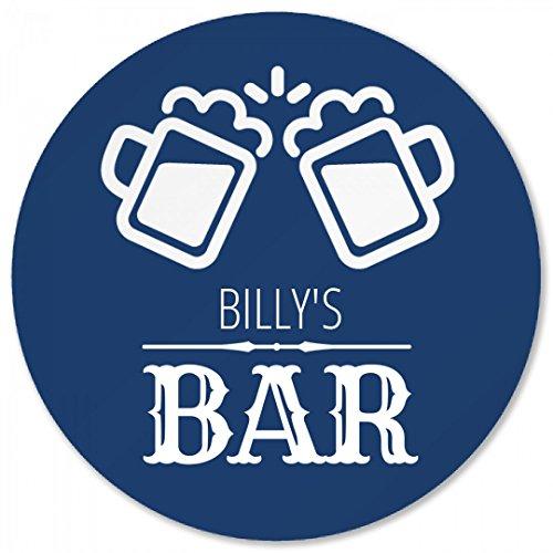 (Billy's Beer Bar Coaster: Round Plastic Coaster)