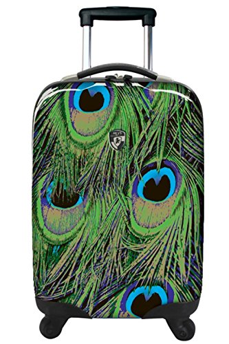 . 50% SALE ... PREMIUM DESIGNER Hartschalen Koffer - Heys Novus Art Leopard Light - Trolley mit 4 Rollen Medium Pfa