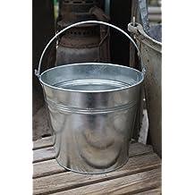 Zinc Metal Silver Tin Bucket 15Cm Plant Pot Wedding Planter With Handle Garden